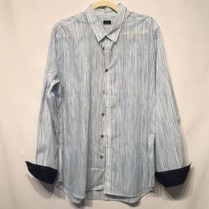 Paul Smith Button Down with Flip Cuff Size XL